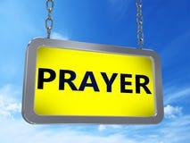 Gebed op aanplakbord stock illustratie