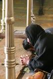 Gebeden bij de Steen van Unction Royalty-vrije Stock Foto