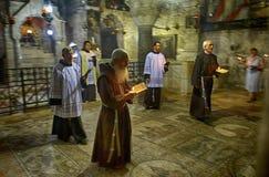 Gebeden in de heilige kerk, de oude stad Royalty-vrije Stock Foto