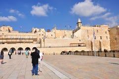De loeiende muur van Jeruzalem Stock Afbeelding