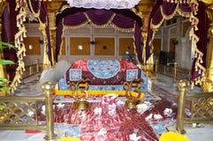 GEBEDENplaats IN GURDWARA VOOR SIKH GODSDIENST Stock Foto