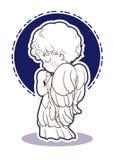Gebedkind - engelenbeelden - Kant vector illustratie