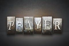 Gebedletterzetsel Stock Foto's