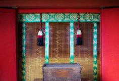 Gebedvenster in heiligdommen Japan Royalty-vrije Stock Foto's