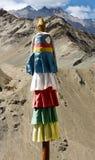 Gebedvlaggen in de bergen, Ladakh, India Royalty-vrije Stock Afbeelding