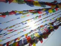 Gebedvlaggen Nepal Kathamandu royalty-vrije stock foto