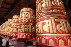 gebedwielen in Katmandu Nepal   Stock Fotografie