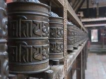 Gebedwielen in Patan Royalty-vrije Stock Fotografie