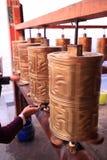 Gebedwielen van Ramoche-Tempel Royalty-vrije Stock Foto's