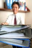 Geben der Schreibarbeit Lizenzfreie Stockbilder