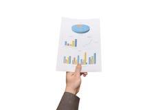 Geben des Berichtskonzeptes Stockfotos