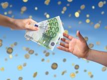 Geben des Geldkonzeptes Lizenzfreies Stockfoto