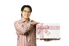 Geben des Geschenks stockbilder