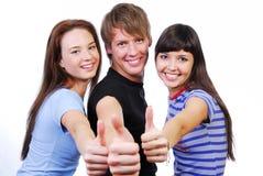 Geben des Thumbs-upzeichens Lizenzfreies Stockbild
