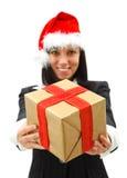 Geben eines Geschenks Lizenzfreies Stockfoto