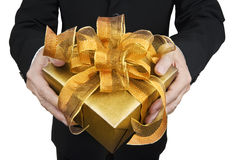 Geben eines Geschenks Stockfoto