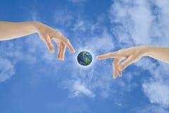 Geben Phasen zur Erde Lizenzfreies Stockfoto