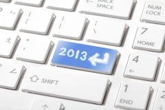 Geben Sie 2013 glückliches neues Jahr ein Stockbilder