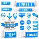 Geben Sie Aufkleber frei Lizenzfreie Stockbilder