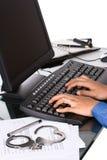 Geben Sie beim Arbeiten frei Lizenzfreies Stockfoto