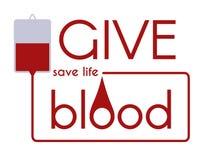 Geben Sie Blut - speichern Sie medizinisches Konzept des Lebenvektors Stockfotografie
