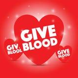 Geben Sie Blutherz stock abbildung
