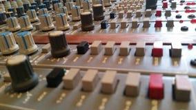 Geben Sie das Patchbay aus Tonstudios in England Lizenzfreies Stockfoto