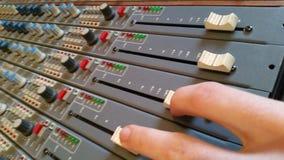 Geben Sie das Patchbay aus Tonstudios in England stockbild