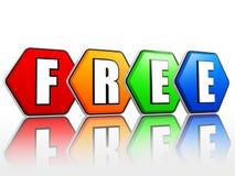Geben Sie in den Farbhexagonen frei Lizenzfreie Stockbilder