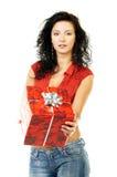 Geben Sie ein Geschenk Lizenzfreie Stockbilder