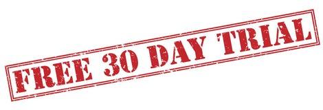 Geben Sie einen 30 Tagesroten Probestempel frei Lizenzfreie Stockfotos