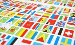 Geben Sie Flaggen, Welt, Zustandsflaggen, Welt an Lizenzfreie Stockfotos