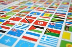 Geben Sie Flaggen, Welt, Zustandsflaggen, Welt an Lizenzfreie Stockfotografie