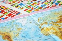 Geben Sie Flaggen, Welt, Zustandsflaggen, Welt an Stockfotos