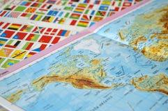 Geben Sie Flaggen, Welt, Zustandsflaggen, Welt an Lizenzfreie Stockbilder