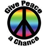 Geben Sie Frieden eine Wahrscheinlichkeit stock abbildung