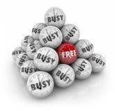 Geben Sie gegen beschäftigte Zeit-Bereich-Ball-Pyramiden-Reserven-Feiertags-Tagesstunden von frei Stockfoto