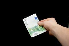 Geben Sie Geld Lizenzfreies Stockbild