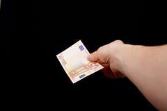 Geben Sie Geld Lizenzfreie Stockfotos
