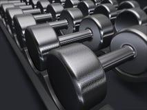 Geben Sie Gewichte, Dumbbells, Gymnastik frei Lizenzfreies Stockbild