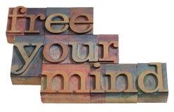 Geben Sie Ihren Verstand frei Stockfoto