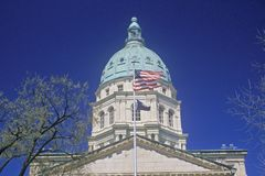 Geben Sie Kapitol von Kansas an Stockfotos