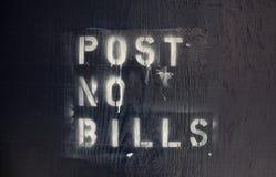 Geben Sie keine Rechnungen bekannt lizenzfreie stockbilder