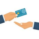 Geben Sie Kreditkarte vektor abbildung
