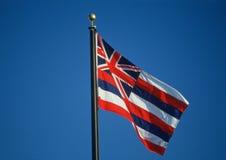 Geben Sie Markierungsfahne von Hawaii an Stockfotografie