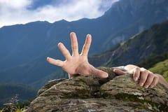 Geben Sie mir eine Hand für Hilfe Stockfotografie