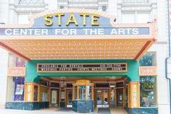 Geben Sie Mitte für die Kunst-Theater Easton-Front, PA an lizenzfreie stockbilder