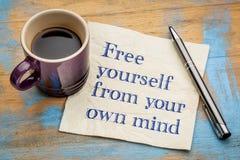 Geben Sie sich von Ihrem eigenen Verstand frei Lizenzfreies Stockbild