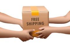 Geben Sie Verschiffen-Kasten frei Lizenzfreie Stockfotos