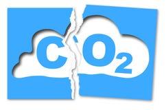 Geben Sie von der CO2-Anwesenheit in der Atmosphäre - Konzeptbild mit ri frei lizenzfreie abbildung